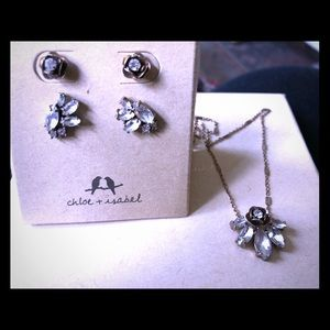 Rosette Necklace & Earring Set